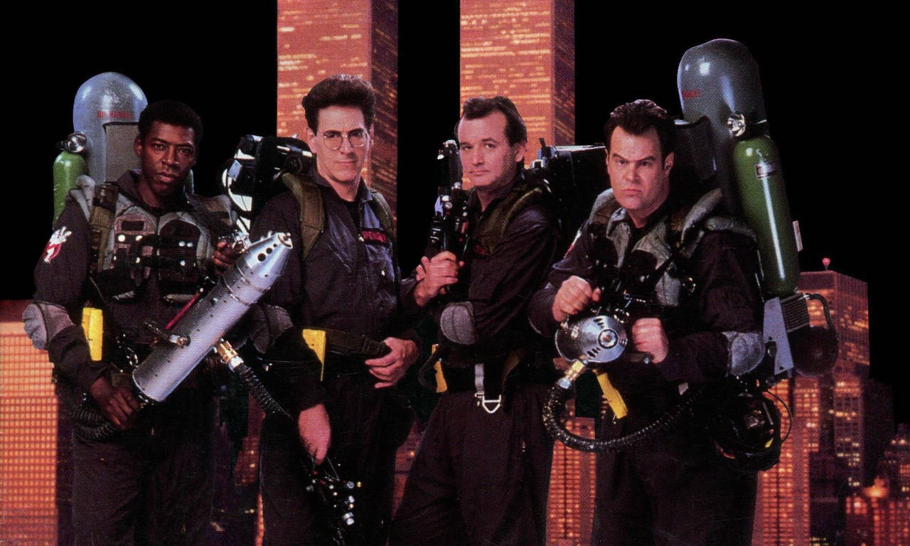 The original crew in Ghostbusters 2