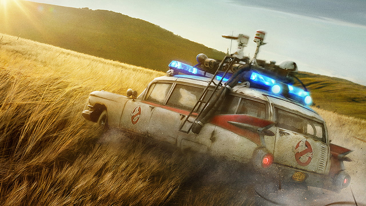 Ecto 1 from the Afterlife movie poster