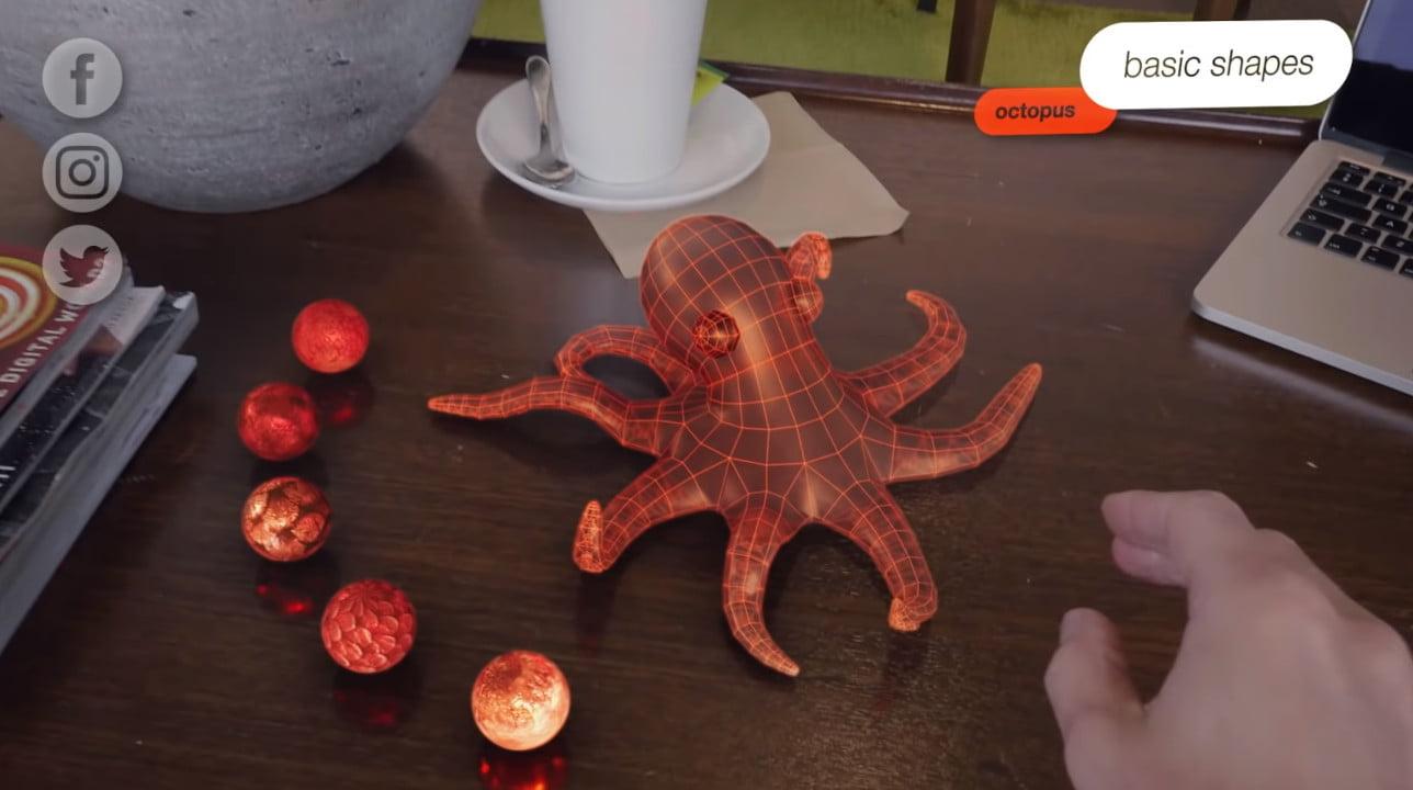 A virtual octopus in scifi short Strange Beasts