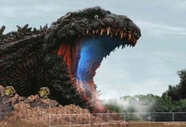 The Godzilla attraction in Japan