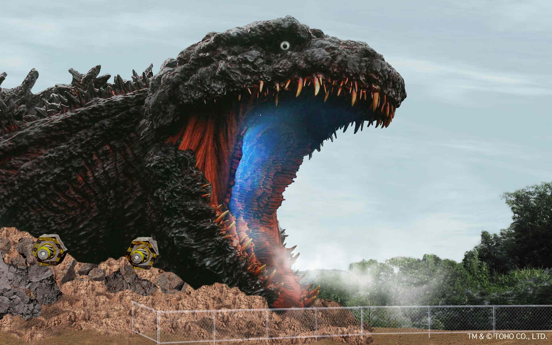 The Godzilla attraction in Japan