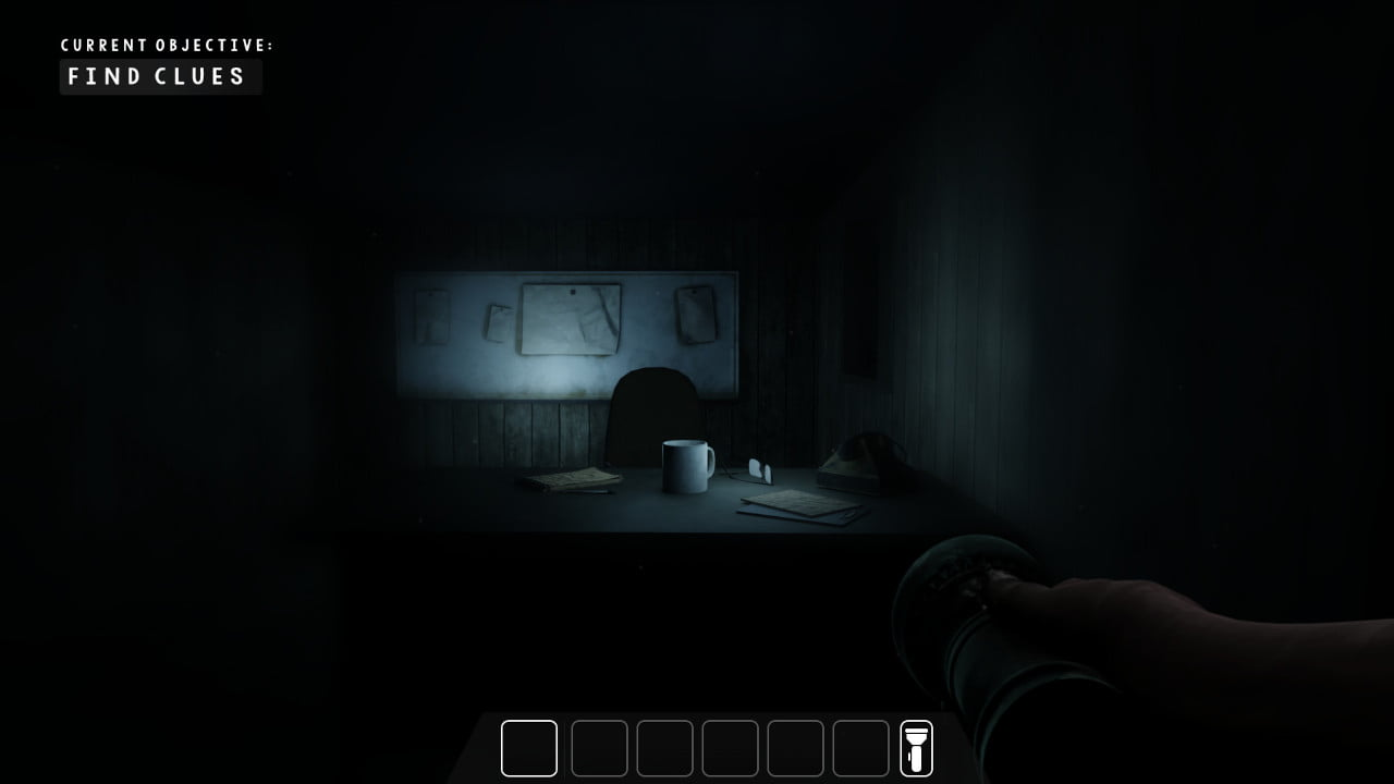 The player holds a flashlight in upcoming horror game Dryad