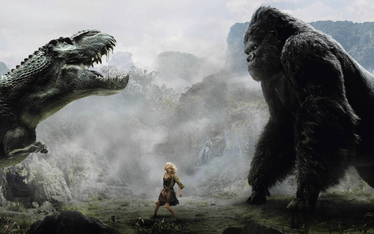 Godzilla and King Kong face off...on the Internet