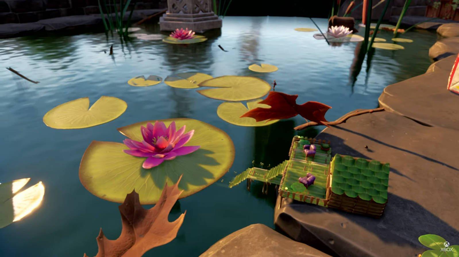 the koi pond at daytime