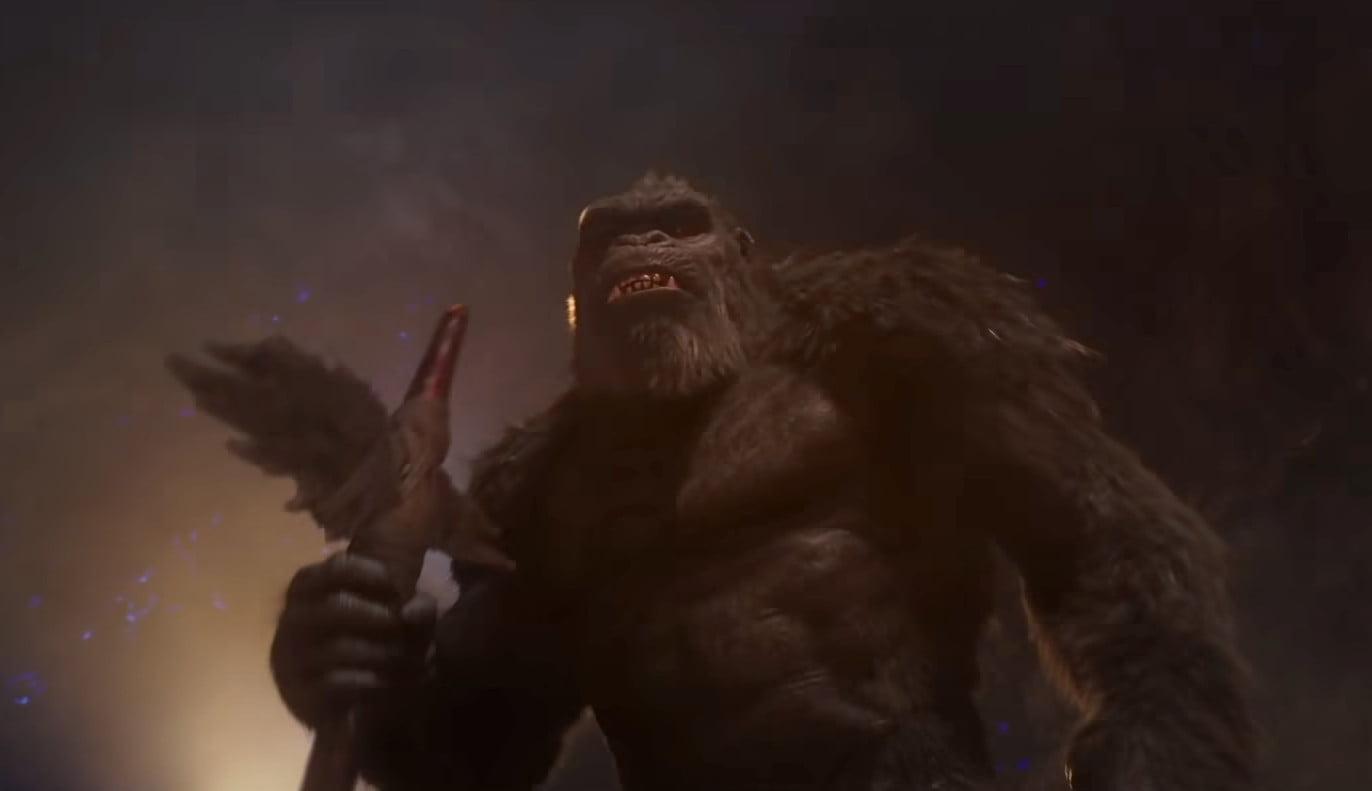 King Kong looks angry.
