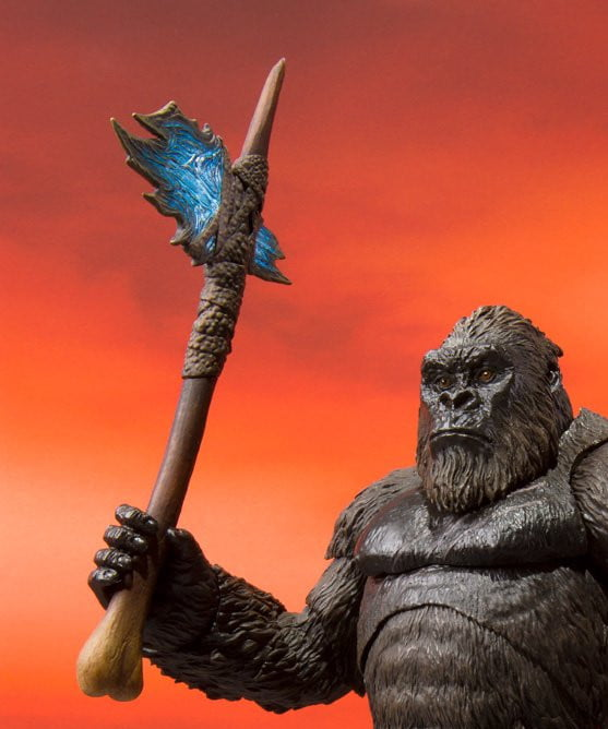 Kong action figure holding axe