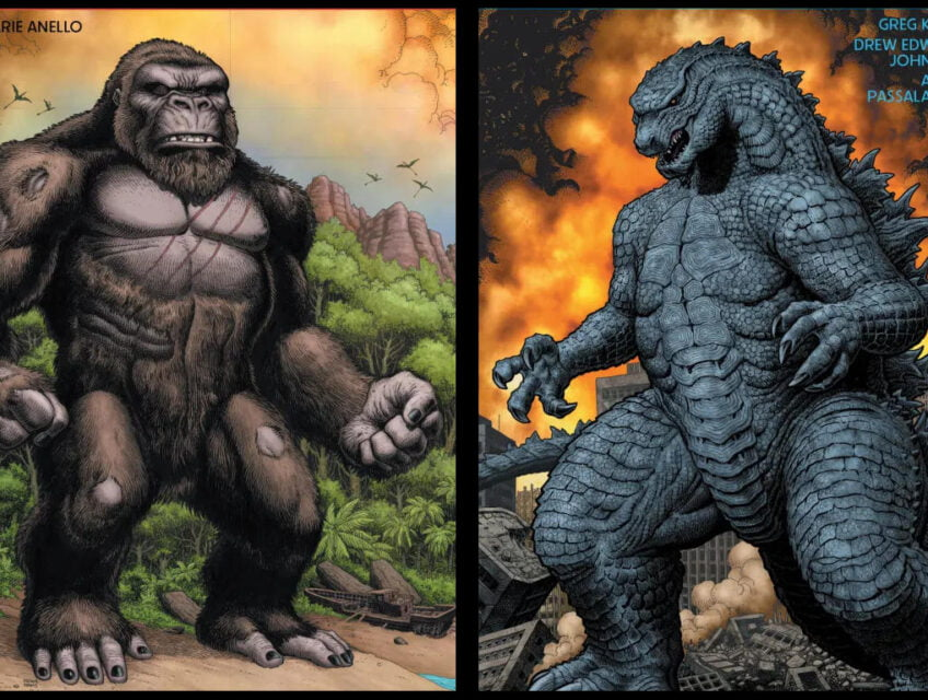 Godzilla faces Kong. Who will win?