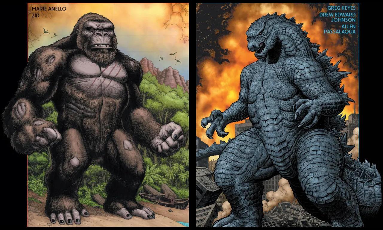 Godzilla faces Kong. Who will win?