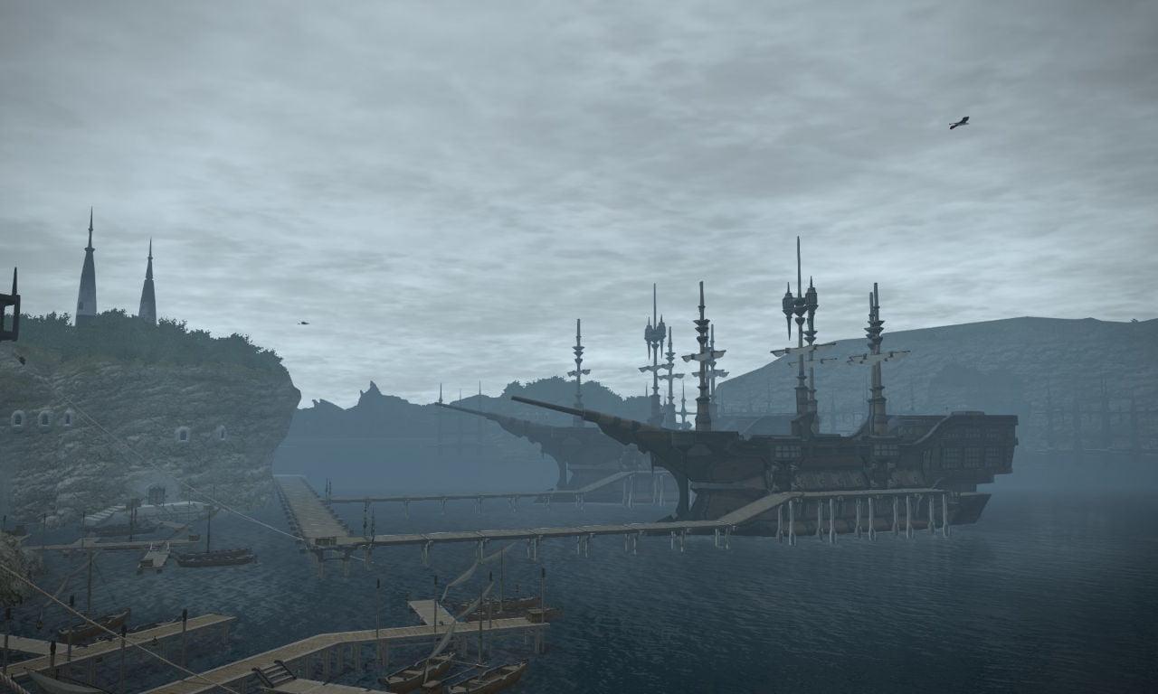 The ships at Limsa Lominsa
