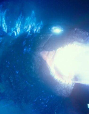 Godzilla lets off some atomic breath