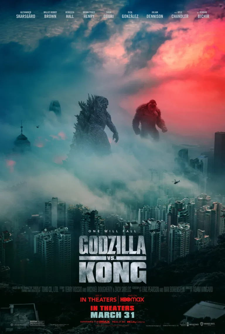 Godzilla faces Kong in the U.S. poster