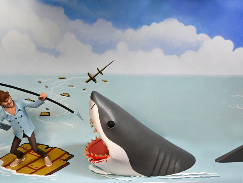 Quint fights off the great white shark