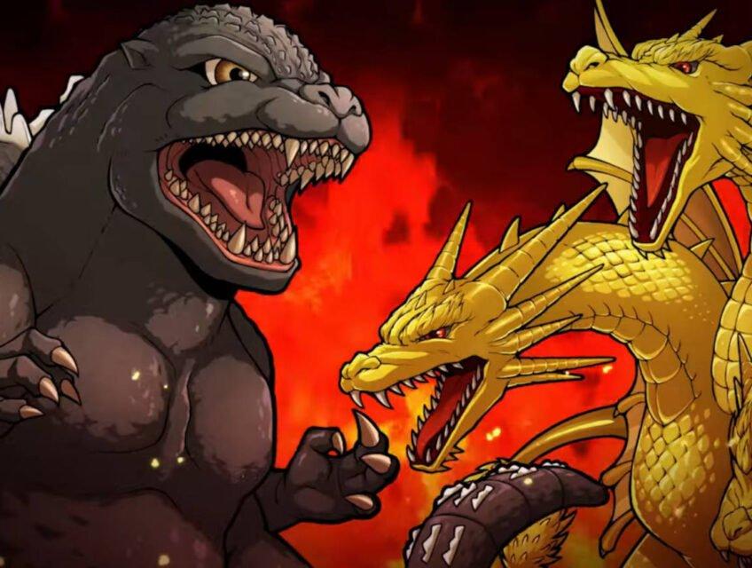 Godzilla and King Ghidorah in Battle Line