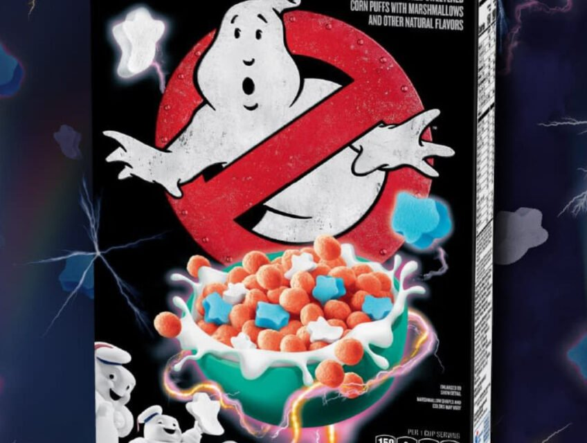Ghostbusters cereal box