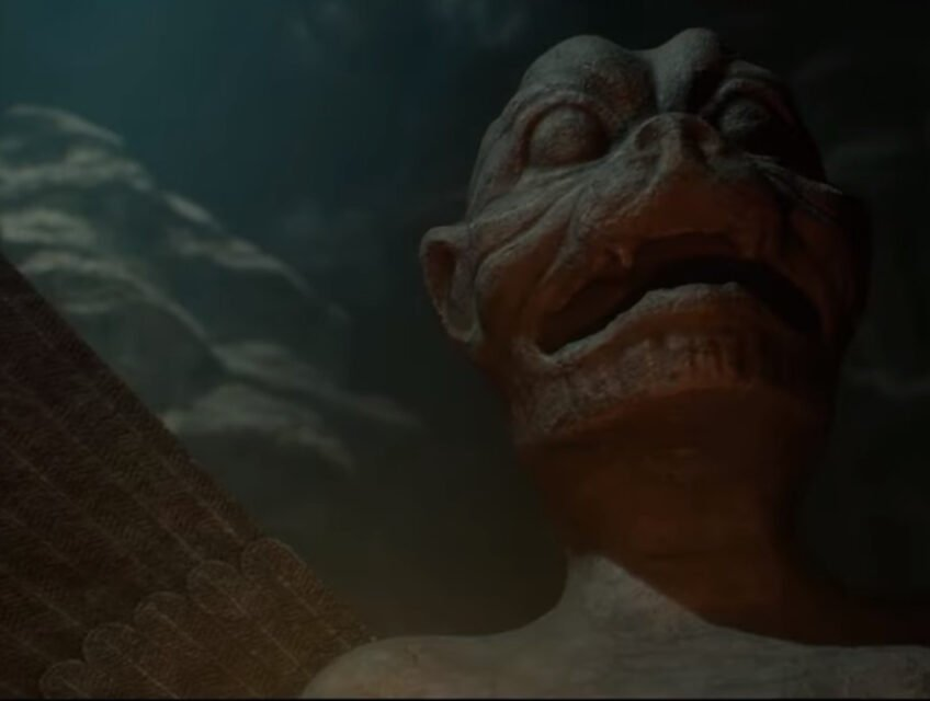 A demonic statue in House Of Ashes