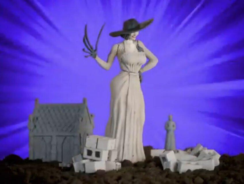 Lady Dimitrescu mock action figure