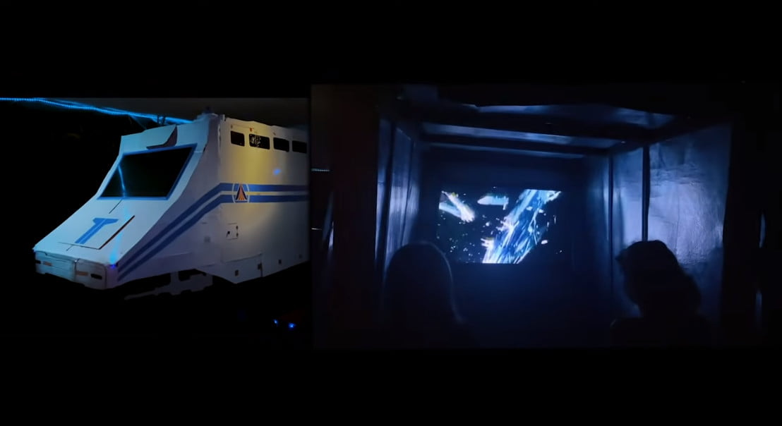 Star Tours in some guy's garage