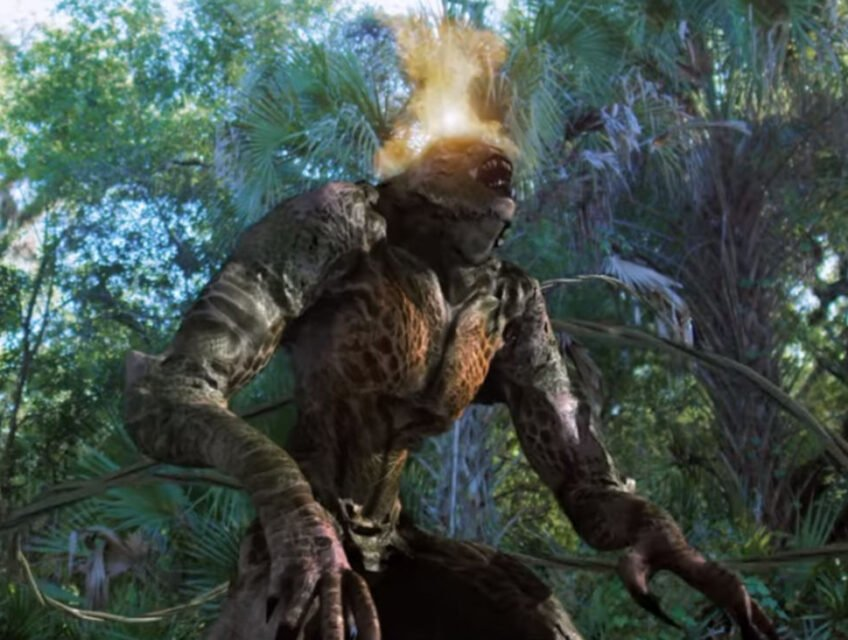 Monster with a fiery head in Jungle Run