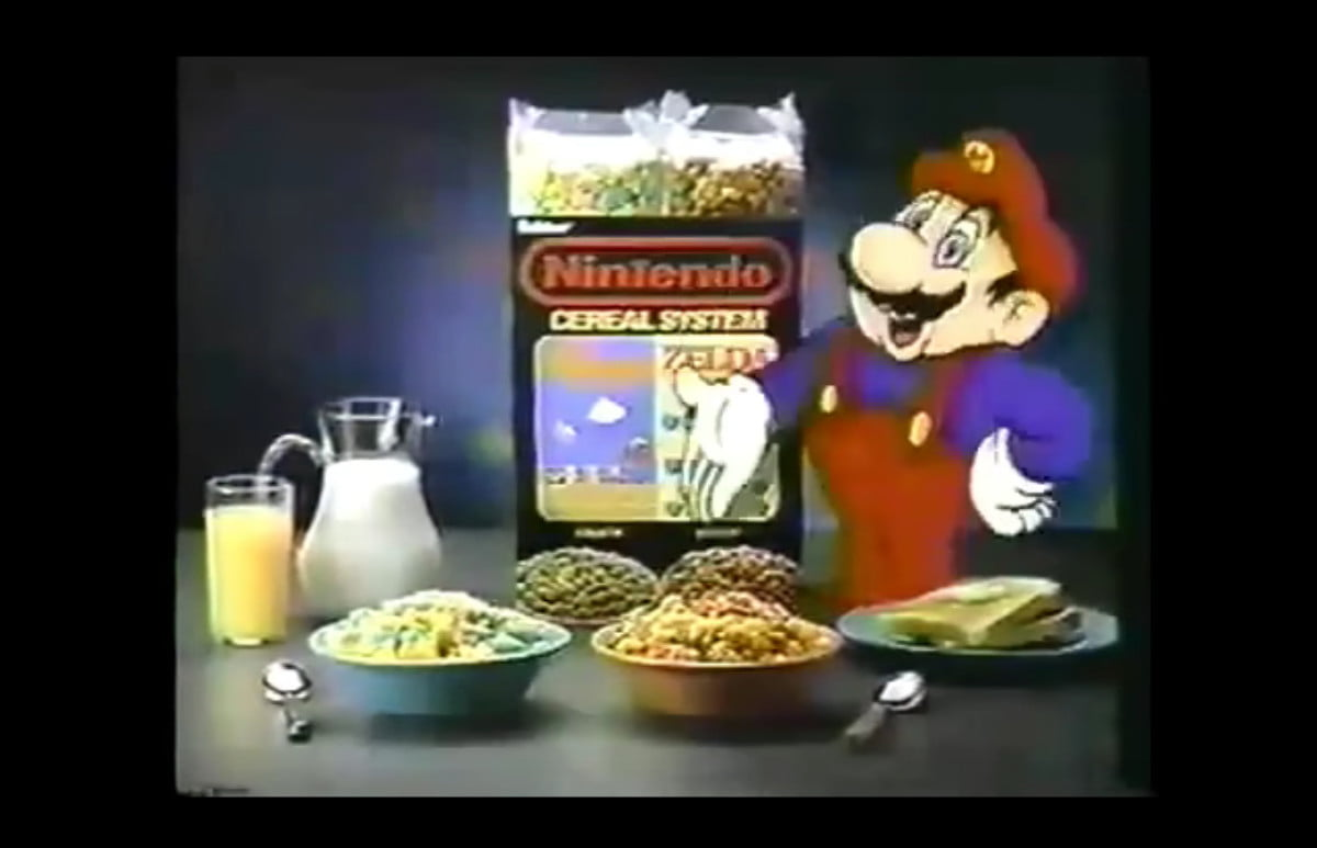 Nintendo cereal commercial