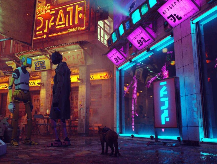 The cyberpunk city of Stray