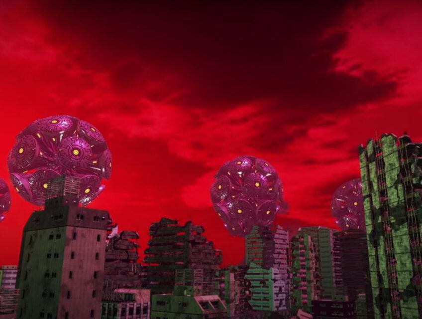 Red skies in Earth Defense Force 6