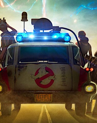 Ecto-1 on Ghostbusters Afterlife poster