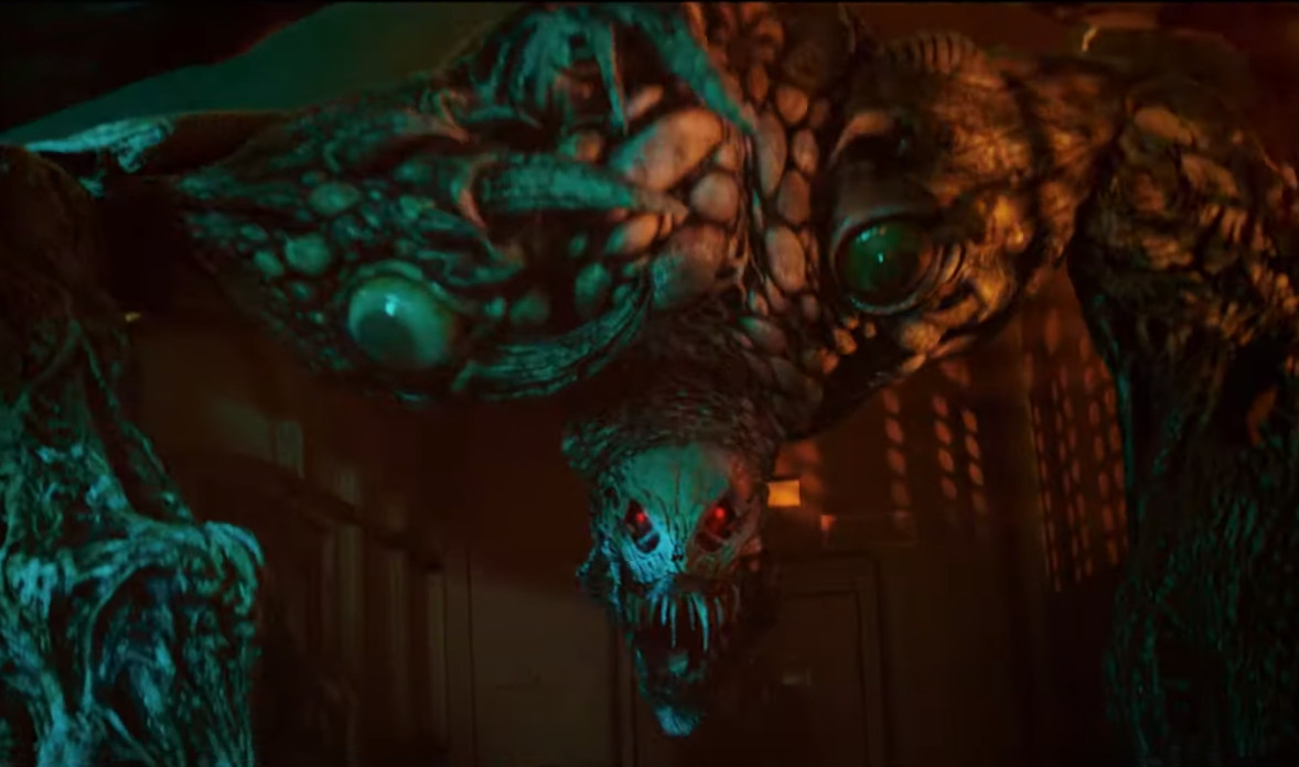 A giant monster zombie from Welcome to Raccoon City